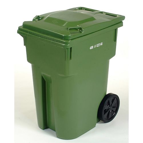 IPL Mastercart 359 L (95-Gallon) Green Wheeled Cart with 12-inch Wheels