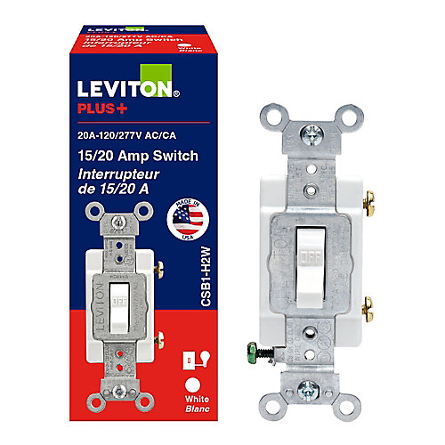 SGL Pole Switch 20 Amp 120/277v , White