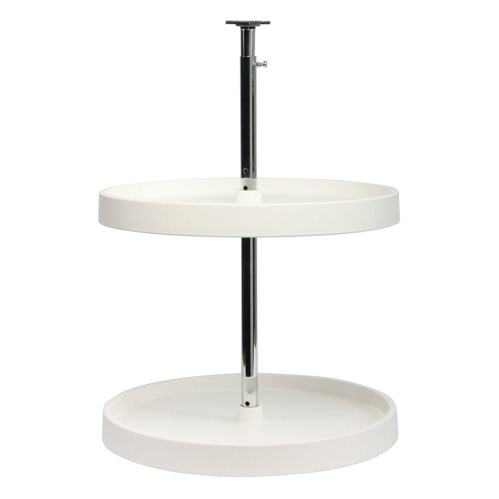 Real Solutions 32-inch H x 18-inch W x 18-inch D 2-Shelf Full Round Lazy Susan Cabinet Organizer