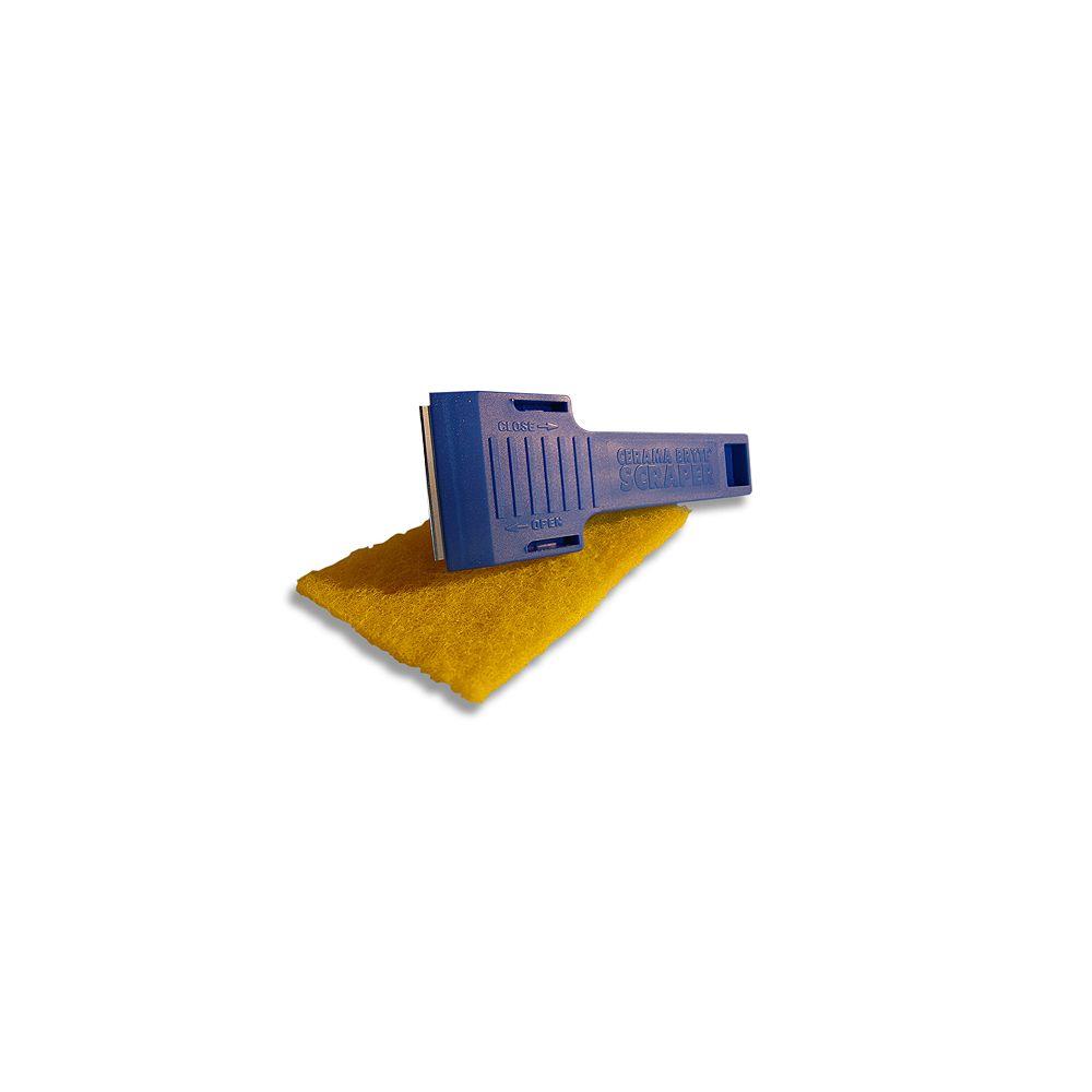 Ceramabryte Combo grattoir/tapis en chiffons multi-usages avec tampons à récurer