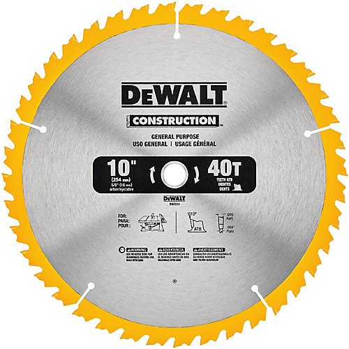 10 inch 40t Jobsite Saw Blade