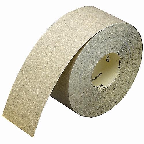 Rouleau de ponçage 3-1/2 pix50yds pour cloison sèche Alumine Oxide Grain 120
