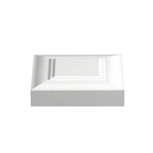 Alexandria Moulding 1-inch x 4 1/8-inch x 4 1/8-inch Victorian MDF Primed Fibreboard Corner Block Moulding