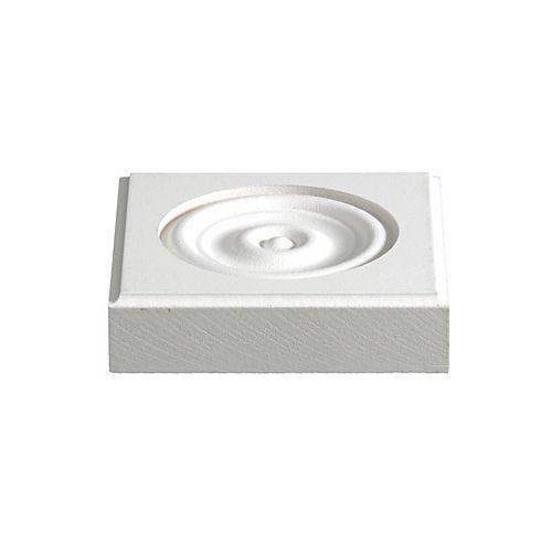 Alexandria Moulding 1-inch x 4 1/8-inch x 4 1/8-inch MDF Primed Fibreboard Corner Block Moulding
