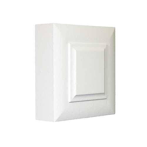 1-inch x 3-inch x 3-inch Victorian MDF Primed Fibreboard Corner Block Moulding