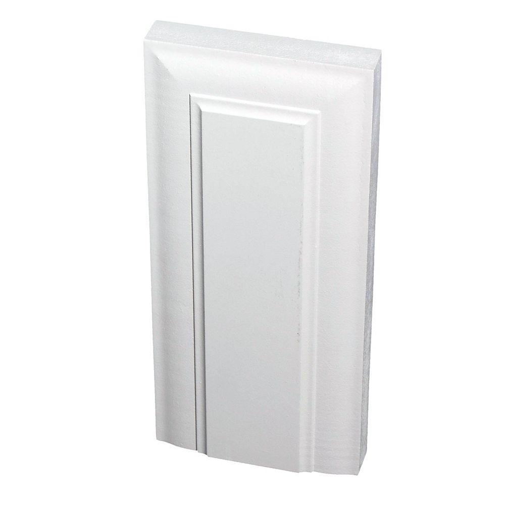 Alexandria Moulding 1-inch x 4 1/8-inch x 9-inch Victorian MDF Primed Fibreboard Plinth Block