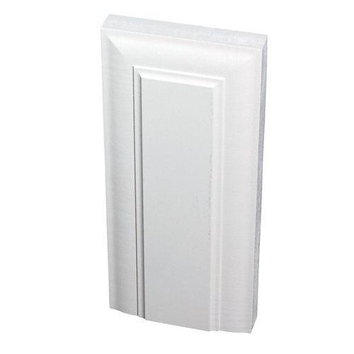 1-inch x 4 1/8-inch x 9-inch Victorian MDF Primed Fibreboard Plinth Block