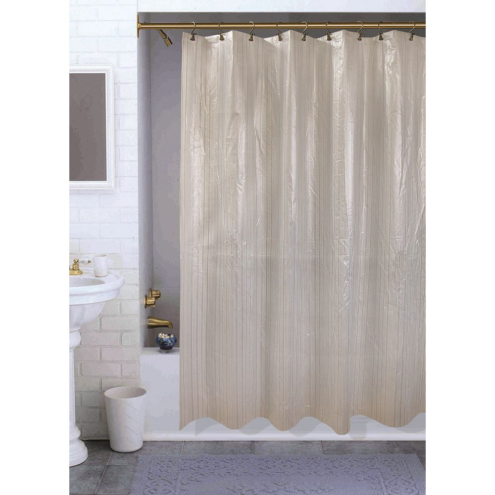 Habitat Varigated Shower Curtain, Silver - 70 Inches x 72 Inches