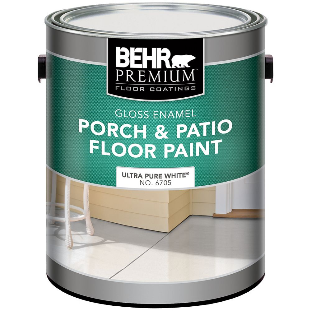 Behr Premium Porch/Floor Gloss Pure White 3.79l