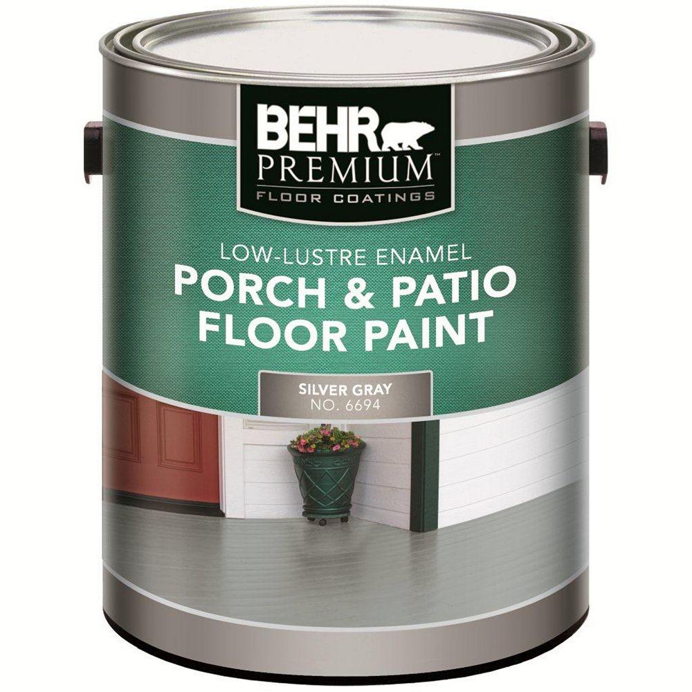 Behr Premium Porch/Floor L.Luster Silver 3.79l