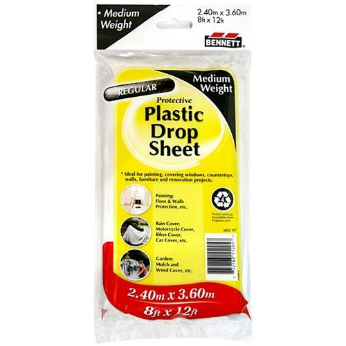 8 ft. x 12 ft. Medium Weight Plastic Drop Sheet