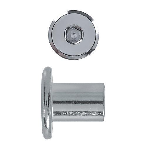 1/4-20x14mm douille de raccord plaque nickel