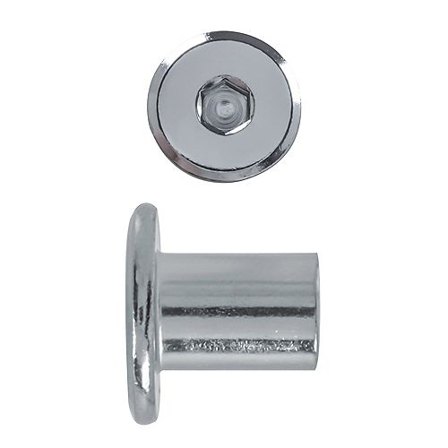 1/4-20 x 12mm Capuchon de connecteur Écrou nickelé