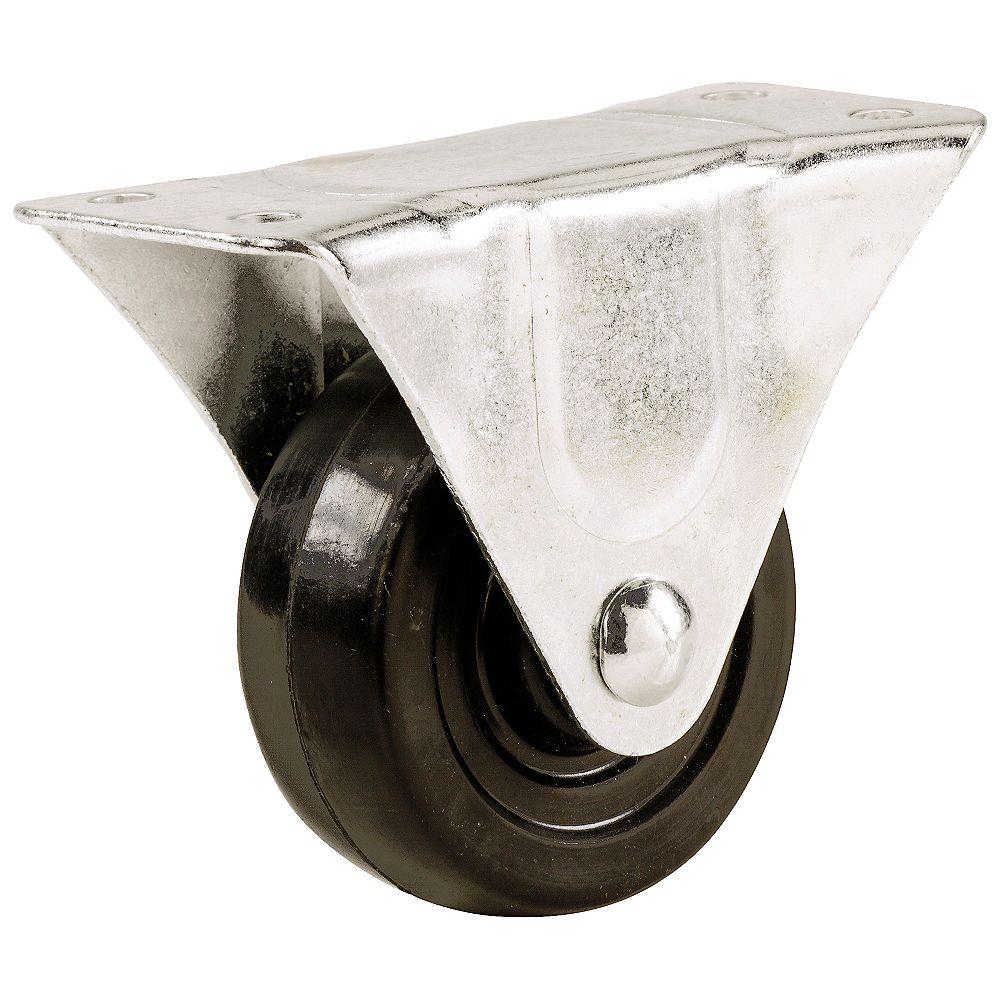 Everbilt Roulette fixe en caoutchouc de 127 mm, capacité de charge 118 kg