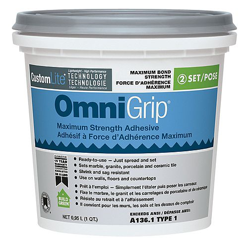 Custom Building Products Omnigrip Maximum Strength Adhesive .95L