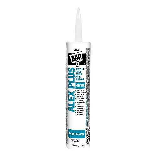 Alex Plus Translucent Acrylic Latex Caulk with Silicone - Clear - 300 ml