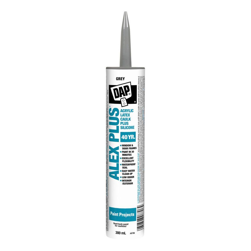 Alex Plus Gray Acrylic Latex Caulk with Silicone - 300 mL