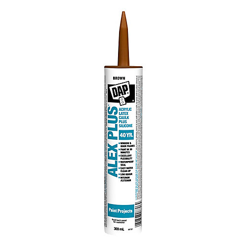 Alex Plus Brown Acrylic Latex Caulk with Silicone - 300 mL