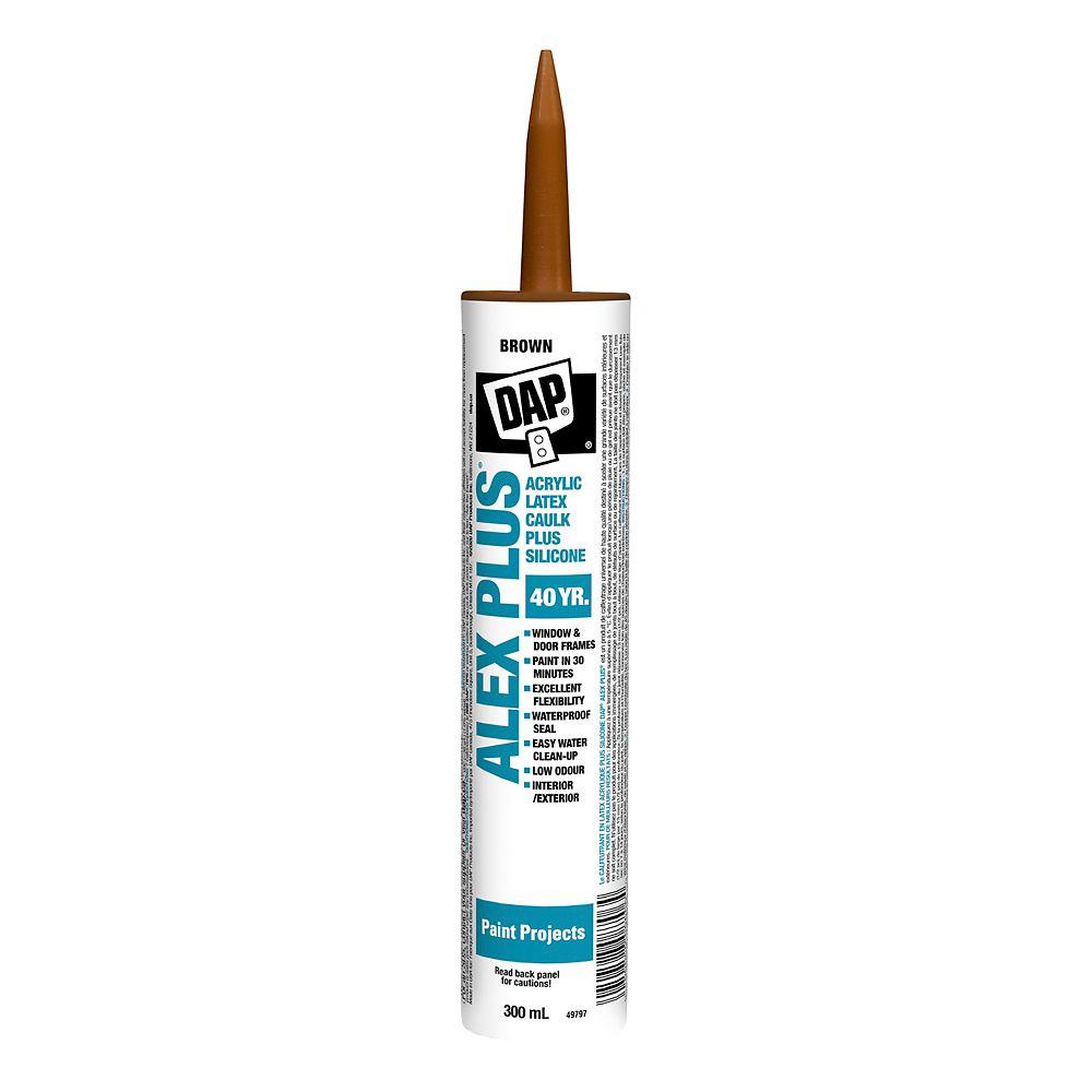 DAP Calfeutrant au latex acrylique avec silicone ALEX PLUS 300mL marron