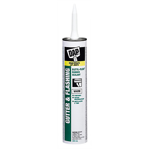 Butyl-Flex Gutter and Flashing Sealant - White - 300 ml