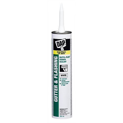 Butyl-Flex Gutter and Flashing Sealant - White - 300 ml
