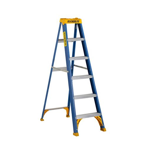 6 ft. Grade I fibreglass Step Ladder