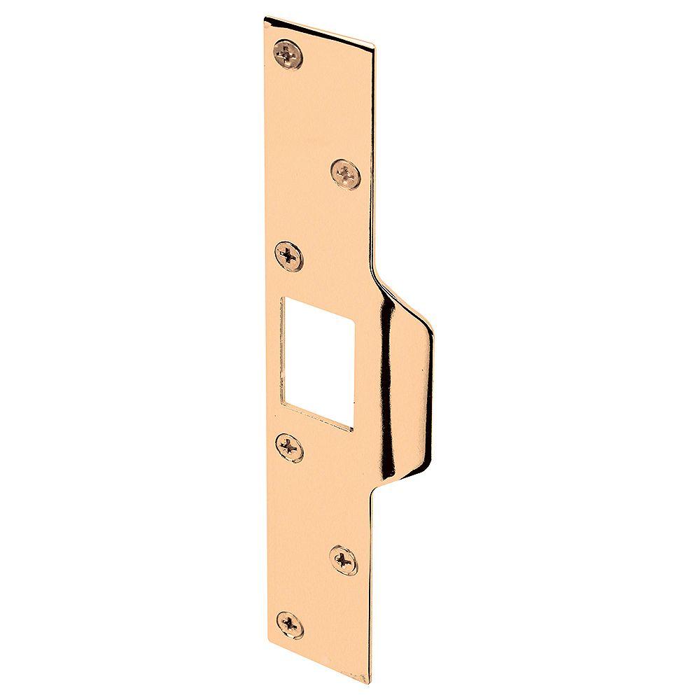 Prime-Line Gâche de verrou sécurité maximale, 1-1/4 po x 7-7/8 po, acier, laiton plaqué