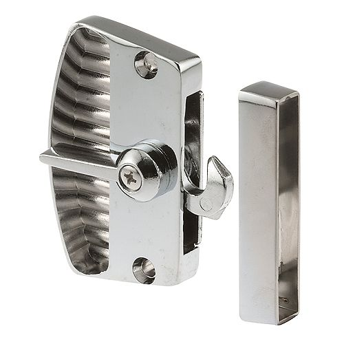 Screen Door Latch and Pull, Chrome