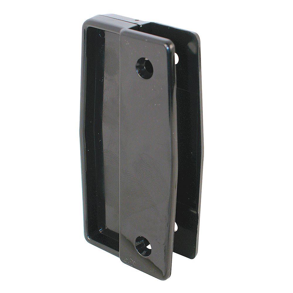 Prime-Line Poignée fixe en plastique noir pour porte moustiquaire coulissante