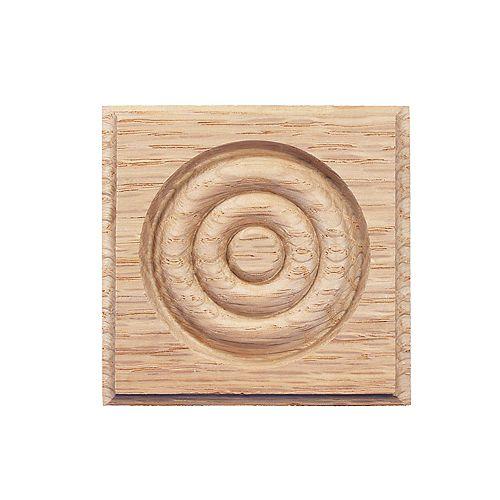 Oak Corner Block 7/8 In. x 2-3/4 In. x 2-3/4 In.