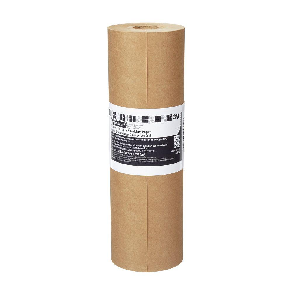3M Papier de masquage à usage général MPG9 Hand-Masker(MC)  3M(MC), 9 po x 60 v