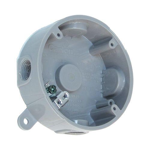 Weatherproof Round PVC Junction Box Grey
