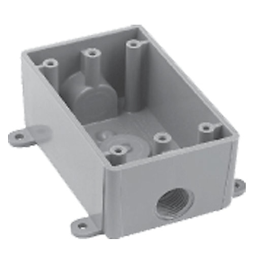 Outdoor Weatherproof  PVC Single Gang Device Box  1/2 Inch