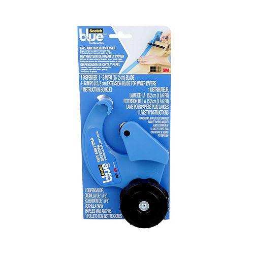 Tape and Paper Dispenser, M1000-SBN, 11.2 in x 2 in (28.4 cm x 5 cm), blue