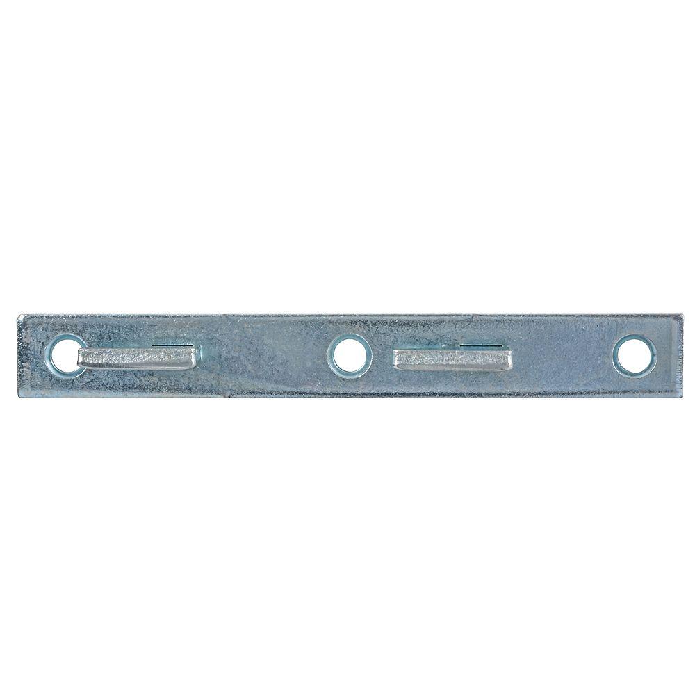 Paulin 5-inch Steel Bed Rail Fasteners Male Zinc Plated