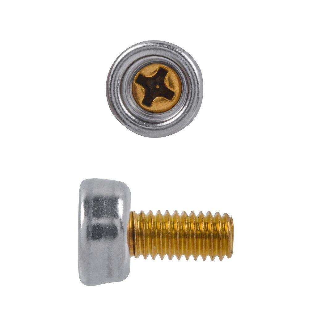 Paulin 3/8-inch 10-32 x11mm  Phillips Drive Bolt Stud Nickel Plated Brass