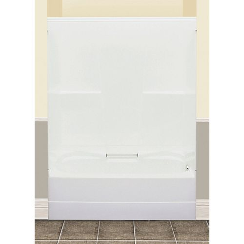 MAAX FW64S 59.50-inch x 76.50-inch x 32-inch fibreglass 2-Piece Right Hand Drain Tub & Shower