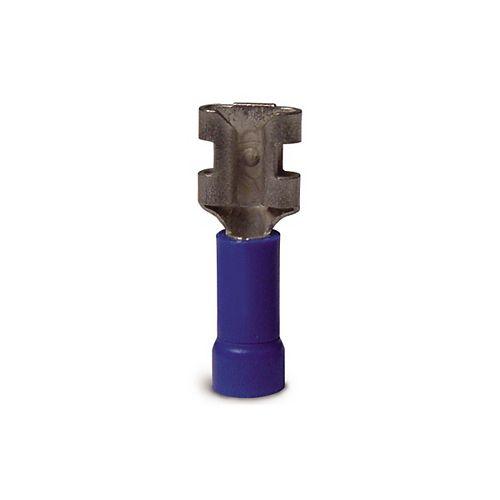 Gardner Bender Connecteur mâle-femelle isolé en vinyle - Femelle pour onglet de calibre 16-14: 0,25po bleu