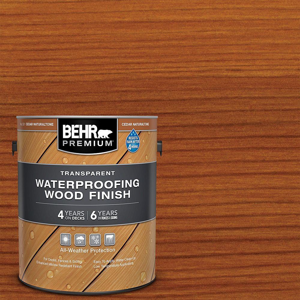 Behr Premium Transparent Waterproofing Wood Finish - Cedar Naturaltone No. 501, 3.79L