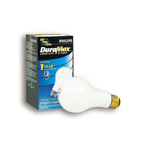 Duramax 50/100/150W Soft White 3-Way Medium Incandscent Light Bulb
