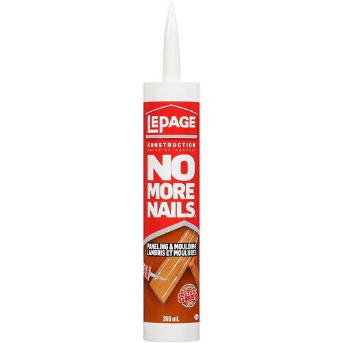 L'adhésif pour la construction pour lambris et moulures No More Nails de