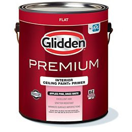 EZ Track Pink To - White Interior Ceiling Paint + Primer 3.78 L