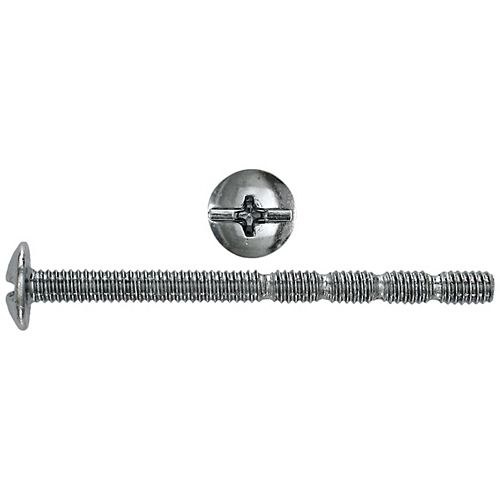 #8-32 x 2-inch Round Head Phillips/Slot Break-Away Drawer Handle Screw - Zinc Plated