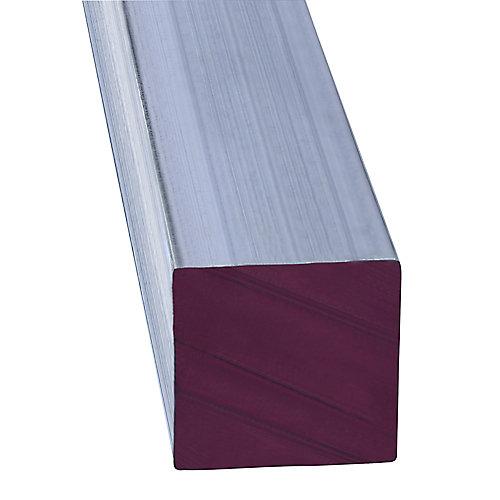 Tuyau carré 1/2X3' en aluminium