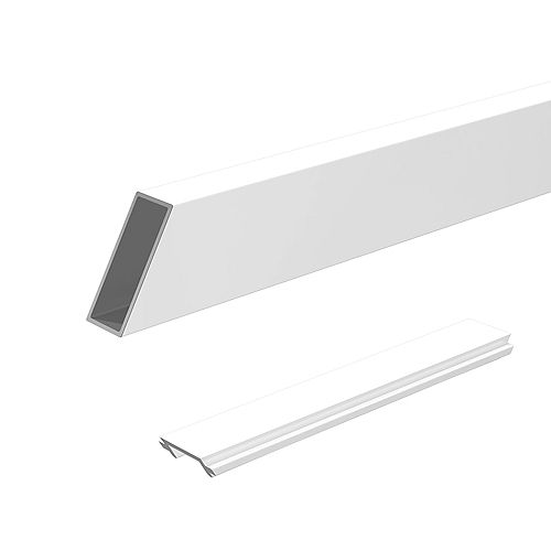 6 ft. Wide Aluminum Stair Railing Pickets and Spacers in White