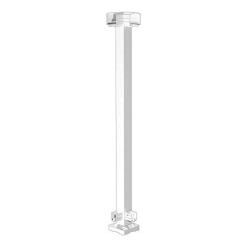 RailBlazers 42-inch Aluminum Railing Corner Post in White