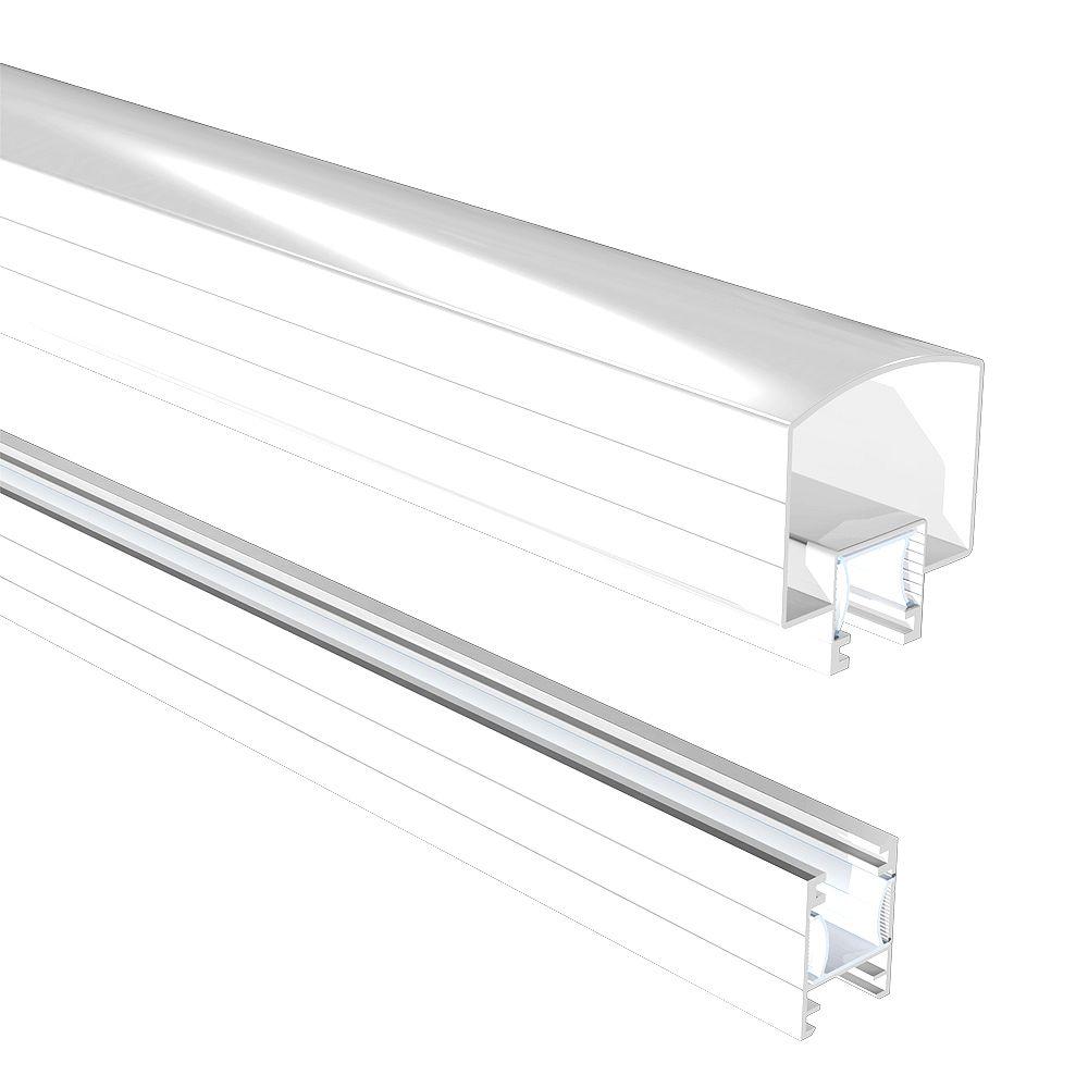 RailBlazers 4 ft. Aluminum Hand and Base Rail in White