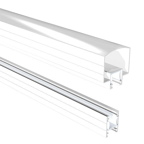 6 ft. Aluminum Hand and Base Rail in White