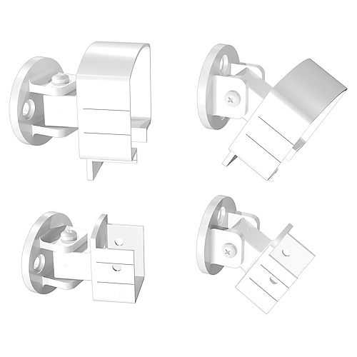 Aluminum Universal Connector in White