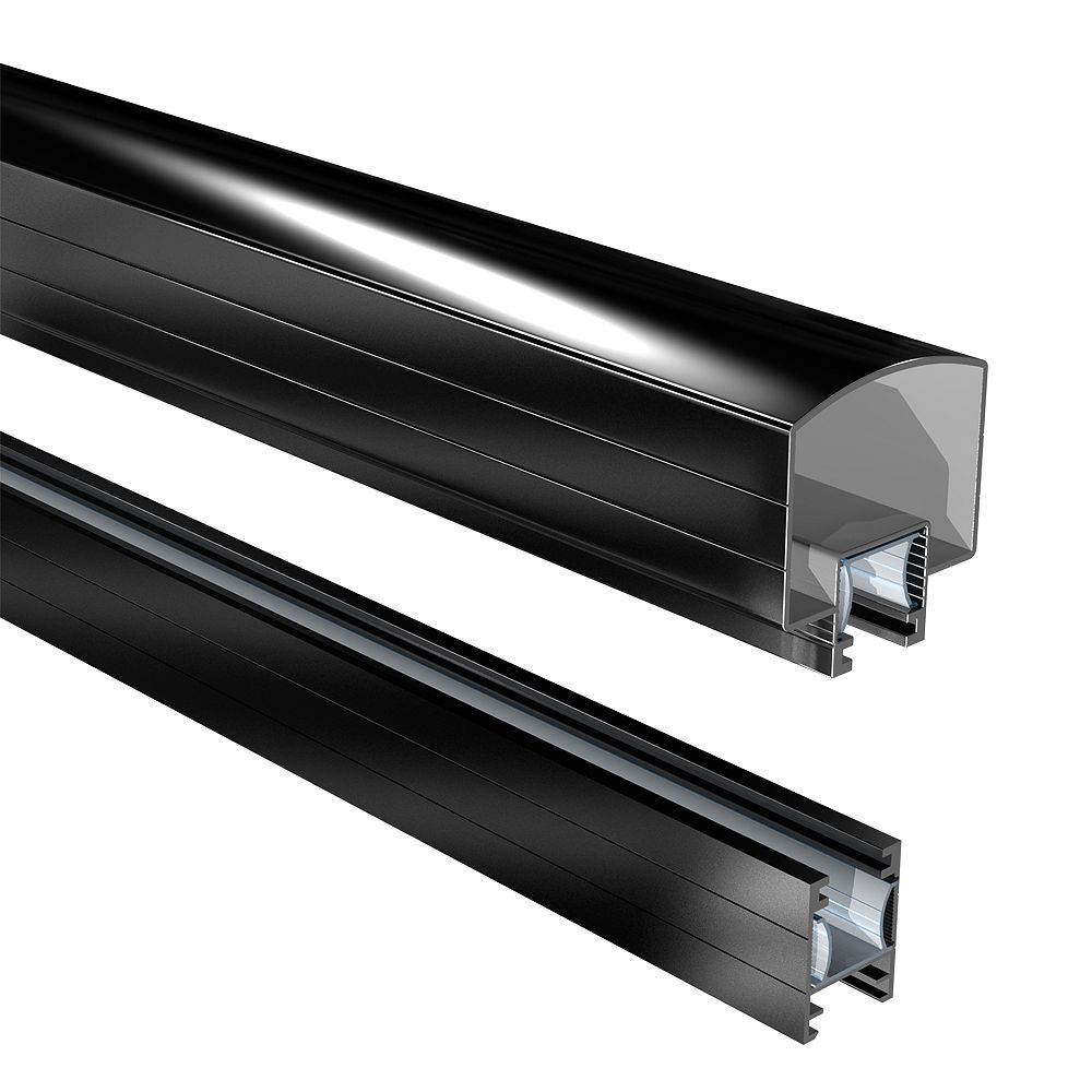 Peak Railblazers 6 ft. Aluminum Hand and Base Rail in Black